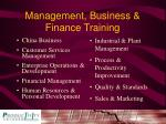 management business finance training