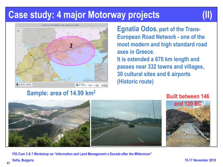Case study: 4 major Motorway projects                   (II)