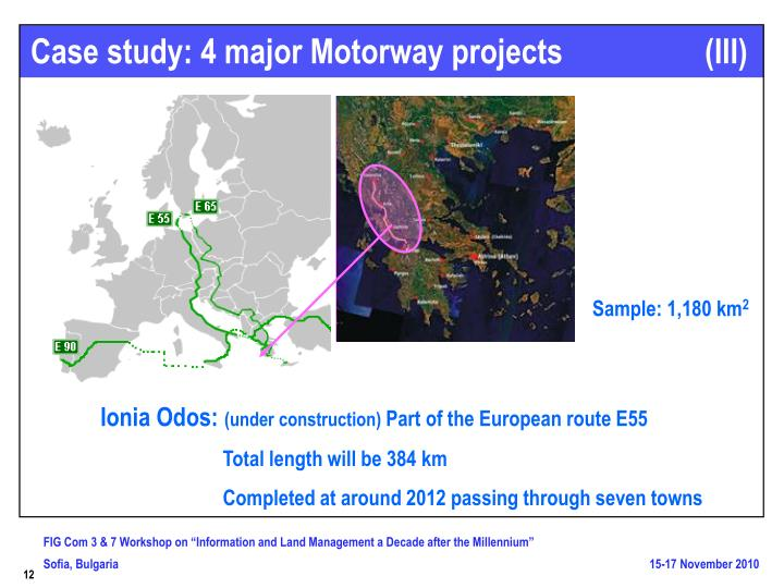 Case study: 4 major Motorway projects                  (III)