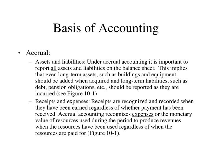 Basis of Accounting