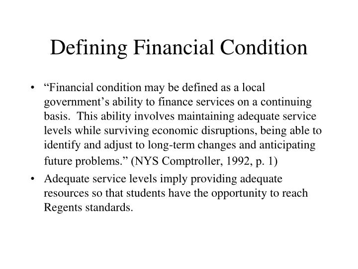 Defining Financial Condition