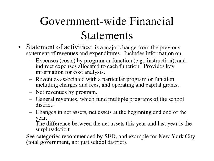 Government-wide Financial Statements