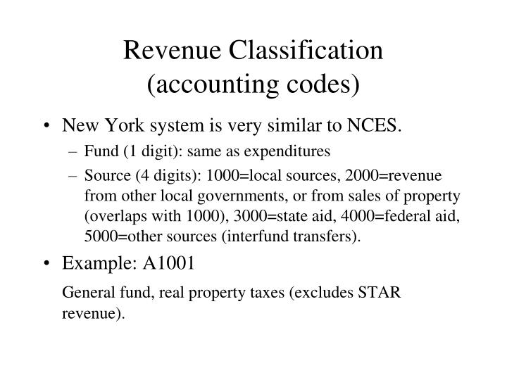 Revenue Classification