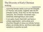 the diversity of early christian writing