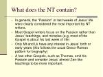what does the nt contain