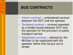 bus contracts