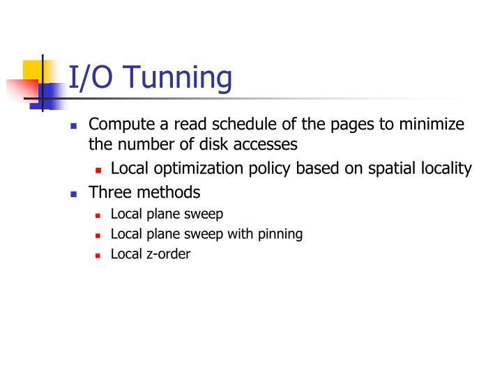 I/O Tunning