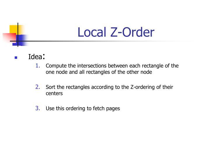 Local Z-Order