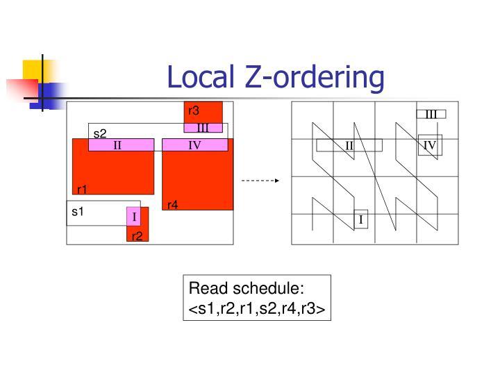 Local Z-ordering