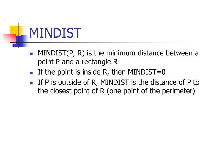 MINDIST
