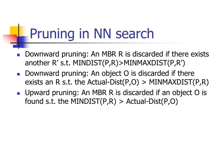 Pruning in NN search