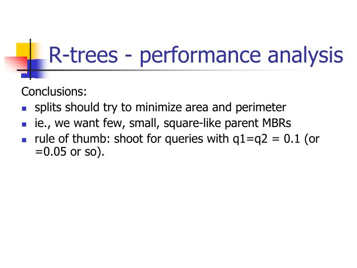 R-trees - performance analysis