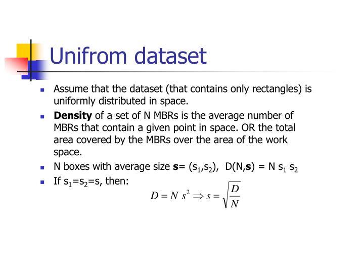 Unifrom dataset