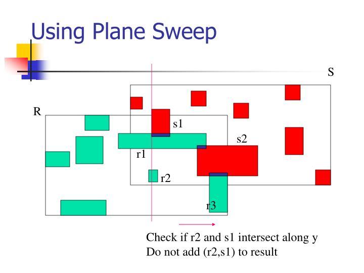 Using Plane Sweep
