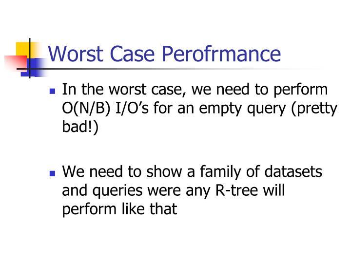 Worst Case Perofrmance