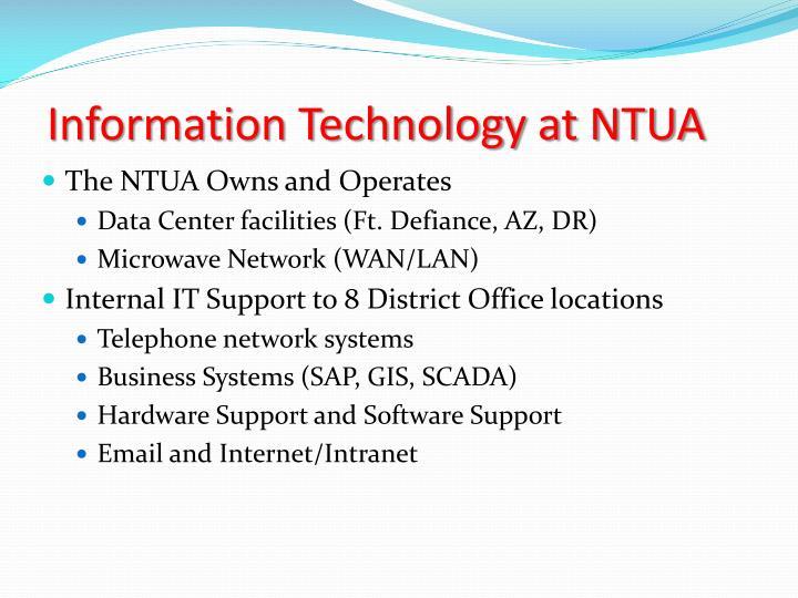 Information Technology at NTUA