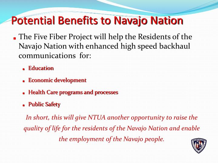 Potential Benefits to Navajo Nation