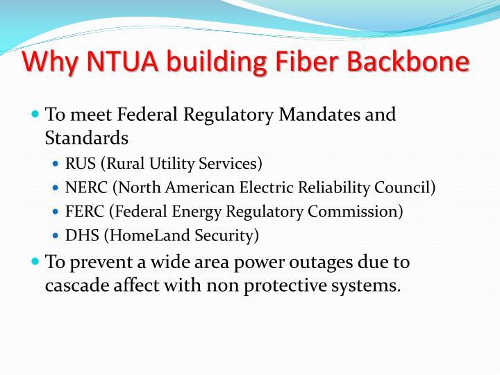 Why NTUA building Fiber Backbone