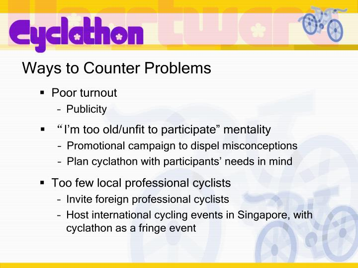 Ways to Counter Problems