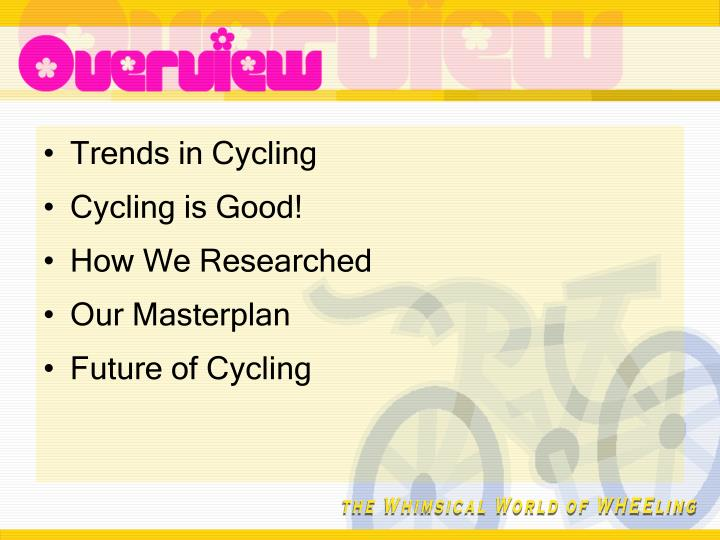 Trends in Cycling