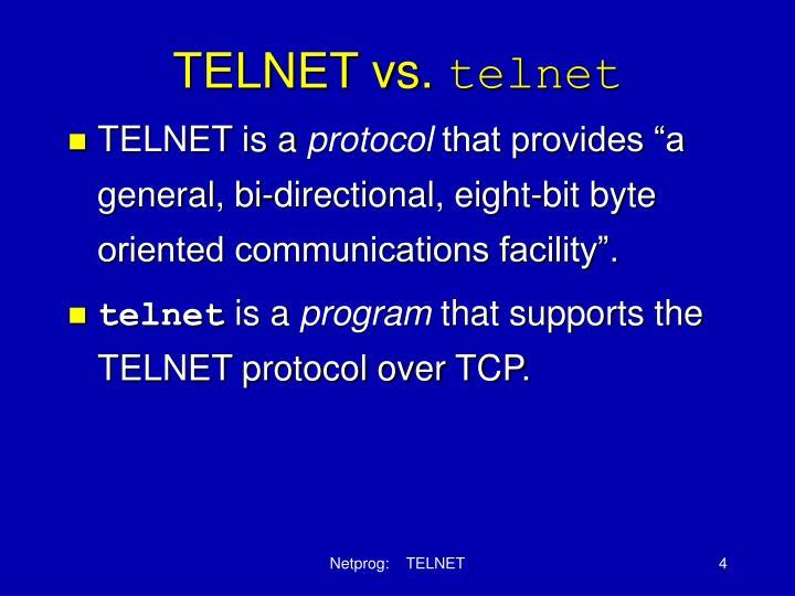 TELNET vs.