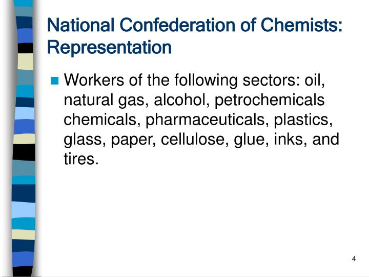 National Confederation of Chemists: