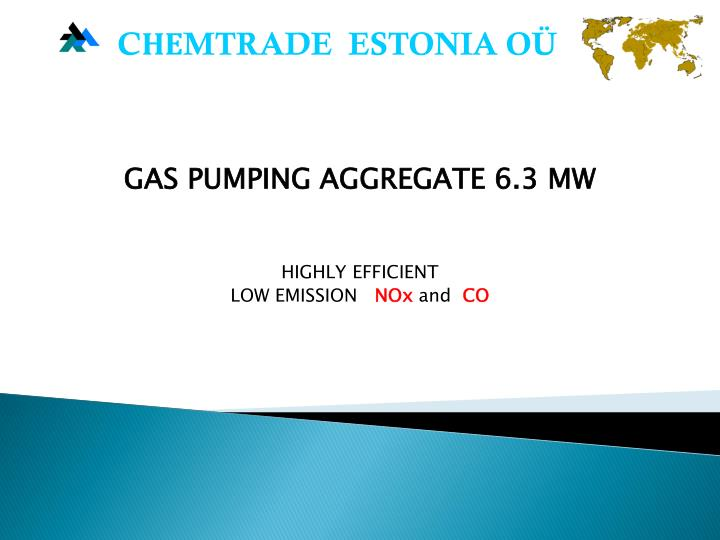 gas pumping aggregate 6 3 mw highly efficient low emission n x and co n.