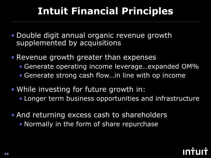 Intuit Financial Principles