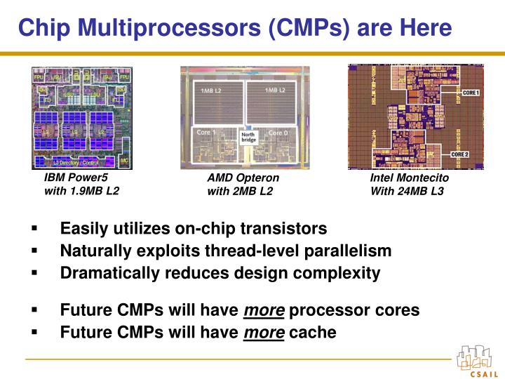 Chip multiprocessors cmps are here