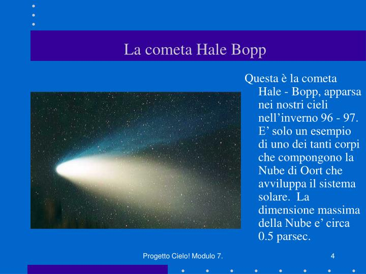 La cometa Hale Bopp