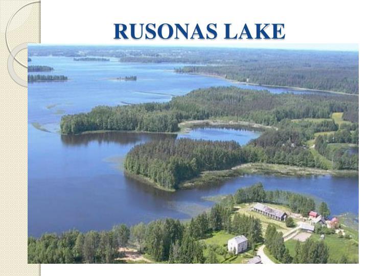 RUSONAS LAKE