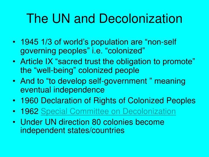 The UN and Decolonization