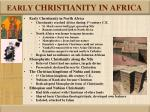 early christianity in africa