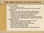 the first bantu state kongo
