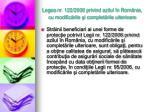 leg ea nr 122 2006 privind azilul n rom nia cu modific rile i complet rile ulterioare