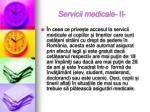 servicii medicale ii
