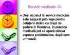 servicii medicale iii