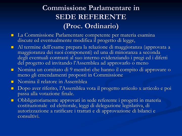Commissione Parlamentare in