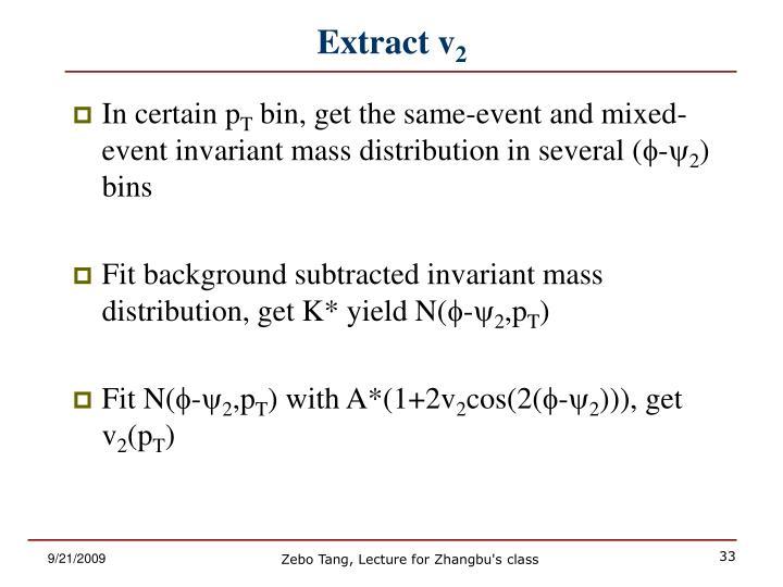 Extract v