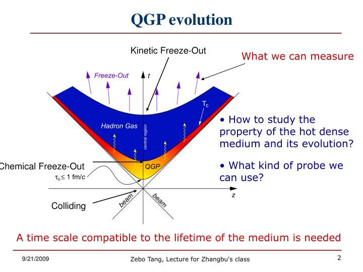 Qgp evolution