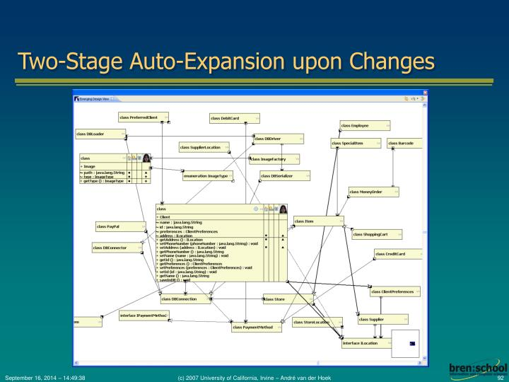 Two-Stage Auto-Expansion upon Changes