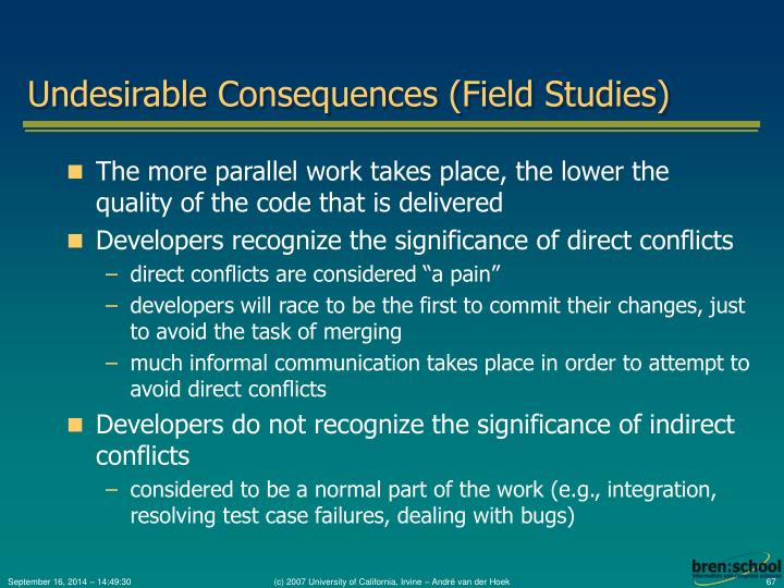 Undesirable Consequences (Field Studies)
