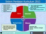 sistem penilaian kurikulum 20131