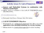 activity areas 3 lab of tomorrow