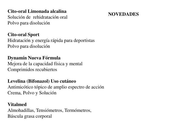 Cito-oral Limonada alcalina