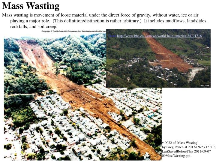 what is mass wasting
