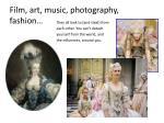 film art music photography fashion