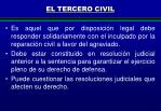 el tercero civil