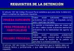 requisitos de la detenci n