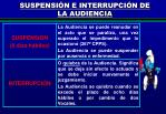 suspensi n e interrupci n de la audiencia